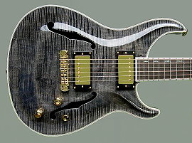 Standard Hollow-body, Trans black finish