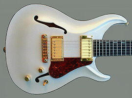 Standard Hollow body - Pearl White finish